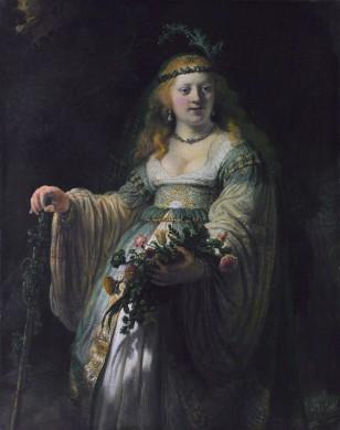 Saskia van Uylenburgh, als de godin Flora